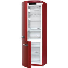 Gorenje ORK193R 1887cm Retro Freestanding Burgundy Left Hinge Fridge Freezer