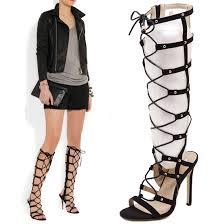 popular sandals gladiator high heels knee buy cheap sandals