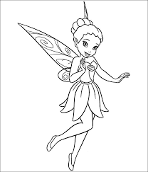 2017 Coloring Disney Tinkerbell Pages To Print For 30 Free
