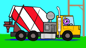 Construction Trucks For Children | CONCRETE MIXER TRUCK Cartoon For ...
