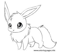 Pokemon Eevee Coloring Pages To Print Cute Printable Sheets