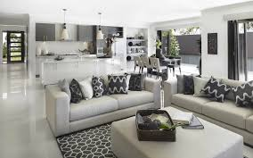 Good Colors For Living Room And Kitchen by I Do Love How The Grey Keeps The Whole Area A Cohesive Space But