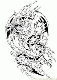 Coloring Pages Dragons Challenging Dragon Page For Grown Adults Difficult Free Knights And