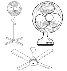 A Standard Fan Table And Ceiling