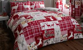 stag friends bedding set white festive duvet