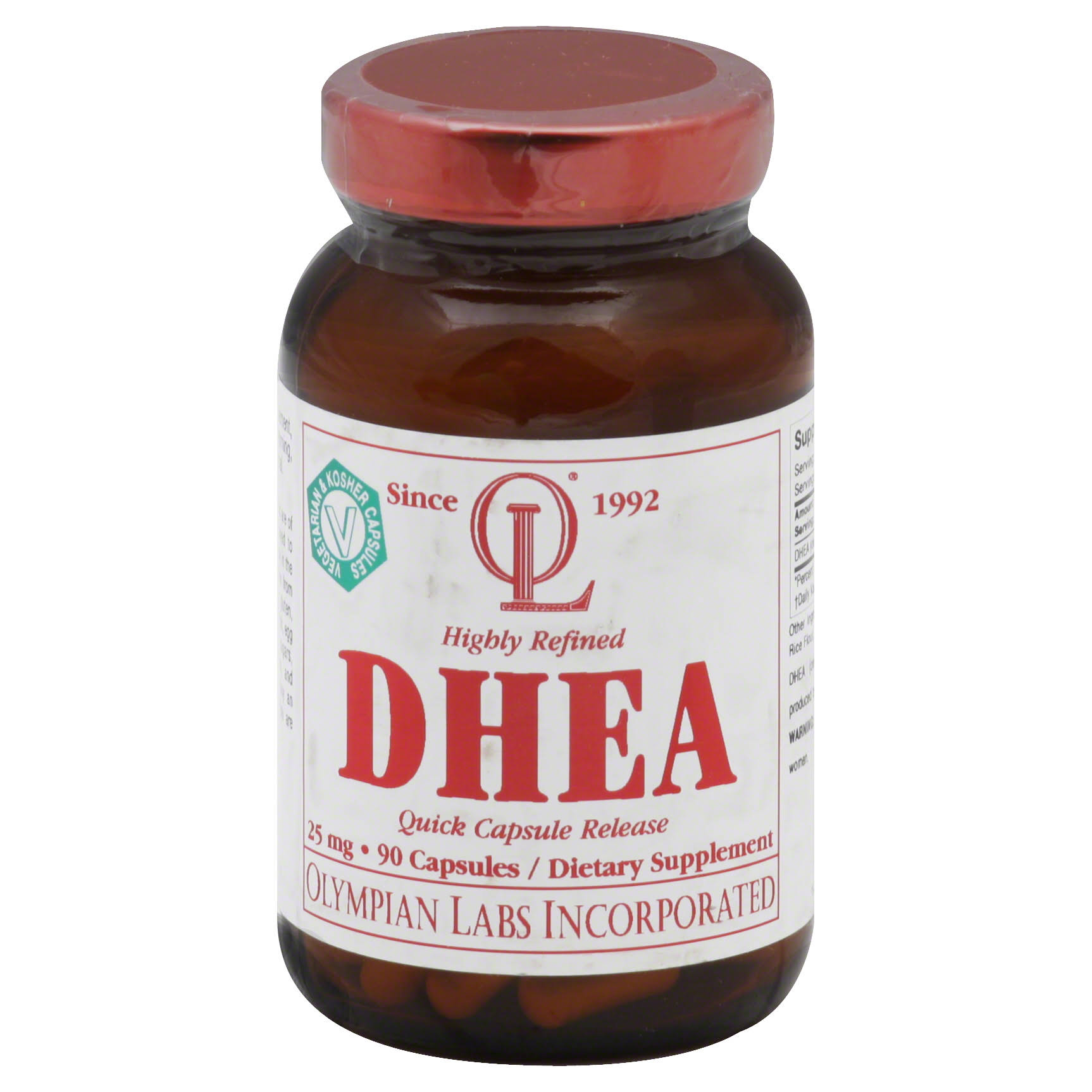 Olympian Labs DHEA Supplement - 25mg, 90Caps