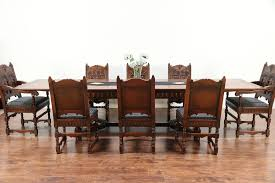 English Renaissance Antique Dining Set, Table, 8 Chairs, Signed Kittinger  #29557 Gent Fully Upholstered Ding Chair Sinequanon American Walnut Oiled Antique Brass Regency Tables Mahogany Walnut Pedestal Tables Two Leaf Wind Out Table And 6 Chairs Burr Queen Anne Eight Covers Room Set White Farmers Outdoor Wonderful Argos Six Antiques Atlas Amazoncom Pauline 3pc With 2 F2208 Counter Height By Poundex Bespoke Reproduction Fniture Suffolk Uk World Awesome Grey Velvet Small