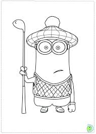 Minions Movie Coloring Pages Free Minion Page Dinokidsorg Characters