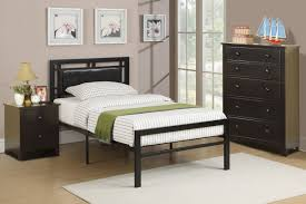 Black Leather Headboard Bed by Bedroom Youth Bedroom F 9414 Faux Leather Headboard