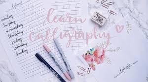 Learn Calligraphy Brush Lettering for your Bullet Journal