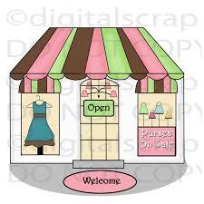 Building Clipart Clothes Shop 2