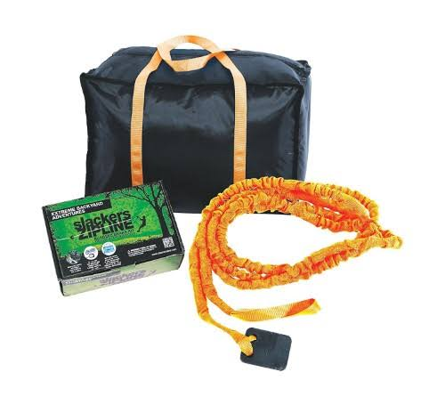 Slackers Zipline Deluxe Bungeez Brake Kit - One Size, Orange and Black