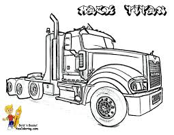 Big Rig Coloring Page Mack Log Truck Clipart