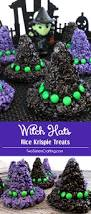 Rice Krispie Treats Halloween Shapes by Witch Hats Rice Krispie Treats Two Sisters Crafting