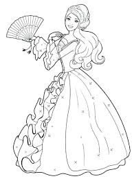 Full Image For Barbie Coloring Pages Games Girl Free Printable