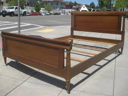 Sears Headboards And Footboards Queen by Furniture Mid Century Full Size Platform Panel Bed Frame With