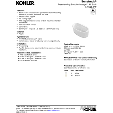 Kohler Villager Tub Rough In by Kohler Bubble Massage Cintinel Com