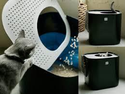 la maison de toilette pour chats à accès vertical modkat
