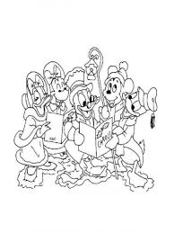 Printable Disney Christmas Coloring Pages Free