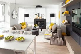 einrichten in grau und gelb die trendige farbgestaltung