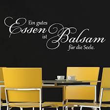 klebeheld wandtattoo ein gutes essen ist balsam für die seele spruch für küche oder esszimmer größe 60x20cm farbe schwarz