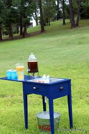 Sewing Cabinet Plans Build by Remodelaholic Make A Sewing Table Into A Drink Station
