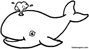 Printable Sea Happy Face Whale Coloring In Sheets