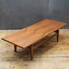 Jenss Decor Victor Ny by Rare Cabin Modern Jens Risoms Long Low Floating Top Walnut Coffee