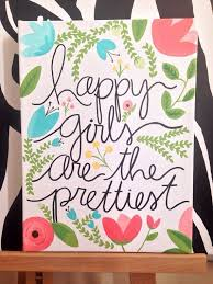 Canvas Art Happy Girls Are The Prettiest By PupocoARTS