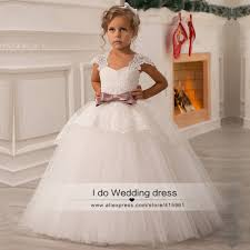 wholesale 2016 ivory lace flower girl dresses weddings ball