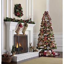 Pre Lit Slim Christmas Tree by Jaclyn Smith 7 U0027 Clearwater Slim Cashmere Pine Tree Kmart