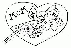 Mom I Love You And Coloring Page