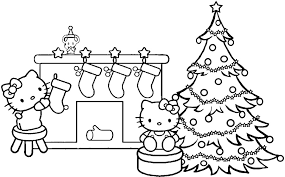 Hello Kitty Christmas Coloring Pages Printables