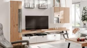 interliving wohnzimmer serie 2105 vitrine uvr11 401kl weißer lack balkeneiche eine tür