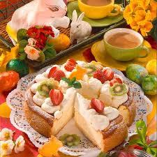 käse sahne torte mit früchten