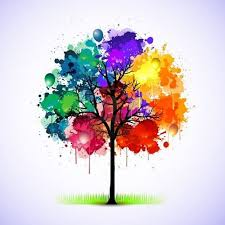 Color wheel projects · Tree watercolor