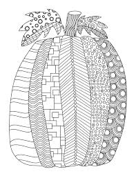 Patterned Pumpkin Coloring Page