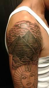 Grey Ink Egyptian Pyramids Tattoo In 2017 Real Photo Pictures Images And Sketches Collections