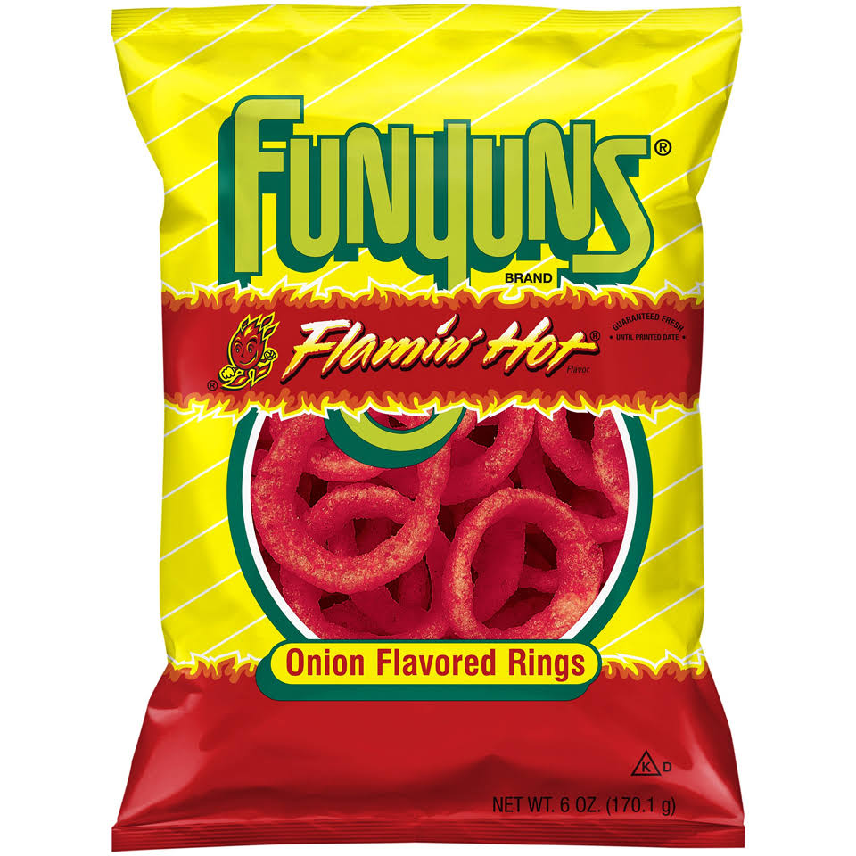 Funyuns Onion Flavored Rings - Flamin Hot, 6oz