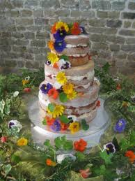 The Exclusive Cake Shop Vintage Tearoom Rustic Wedding Decorate With Edible Flowers
