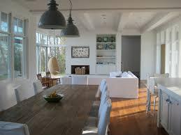 Farmhouse Bar Table Living Room Beach Style With Vintage Pedants Farm Built Ins