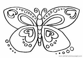 Coloring Butterflies Color Pages Monarch Butterfly Free Simple