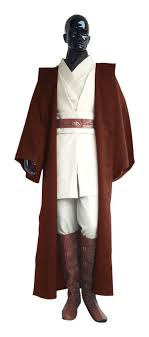deluxe wars herren kostüm obi wan kenobi komplettset 9 teilig