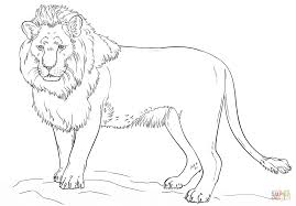 Click The Standing Lion Coloring Pages