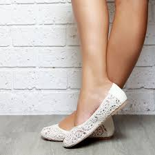 Lace Ivory Ballet Flat Shoes Soft Leather Inner And Fabric Boho Beach Wedding Shoe Style Pure Shores