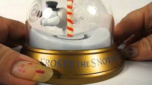 Frosty The Snowman Christmas Tree Ornaments by 1999 Frosty The Snowman Snowglobe Ornament Blockbuster Youtube