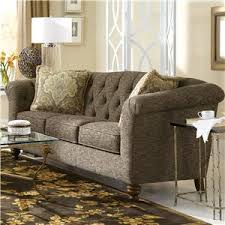 craftmaster olivia button tufted sofa with flared and pleated arms