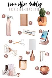 chic gold accesories for a feminine home office lola