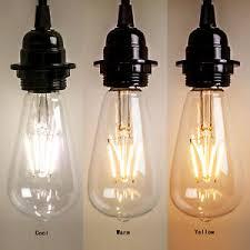 new vintage retro edison e27 2w 8w led filament light bulb