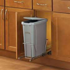 Under Cabinet Trash Can Holder by Diy Pull Out Cabinet Trash Can Undercounter Trash Bin With Lid 12